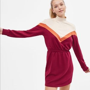 BERSHKA Colorblock Retro Dress Small New